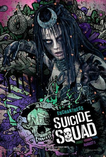 do these suicide squad posters go too far over the top
