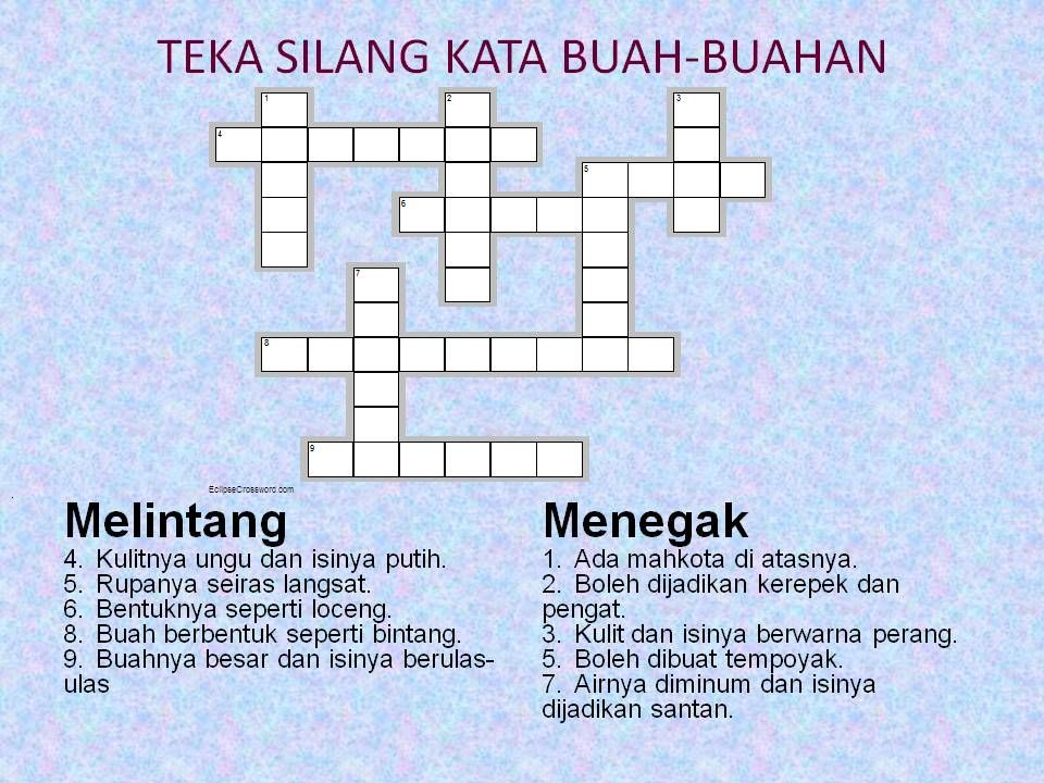 Teka Silang Kata Bahasa Melayu Simpulan Bahasa Meletup Teka Silang Kata Tata Bahasa Www Picswe Com