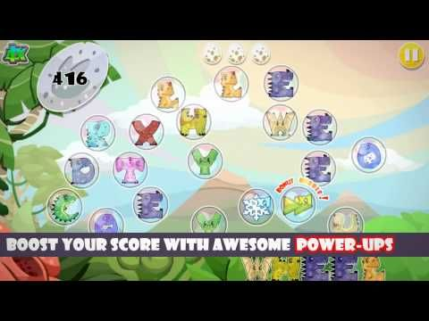 dino pop letter spelling game video