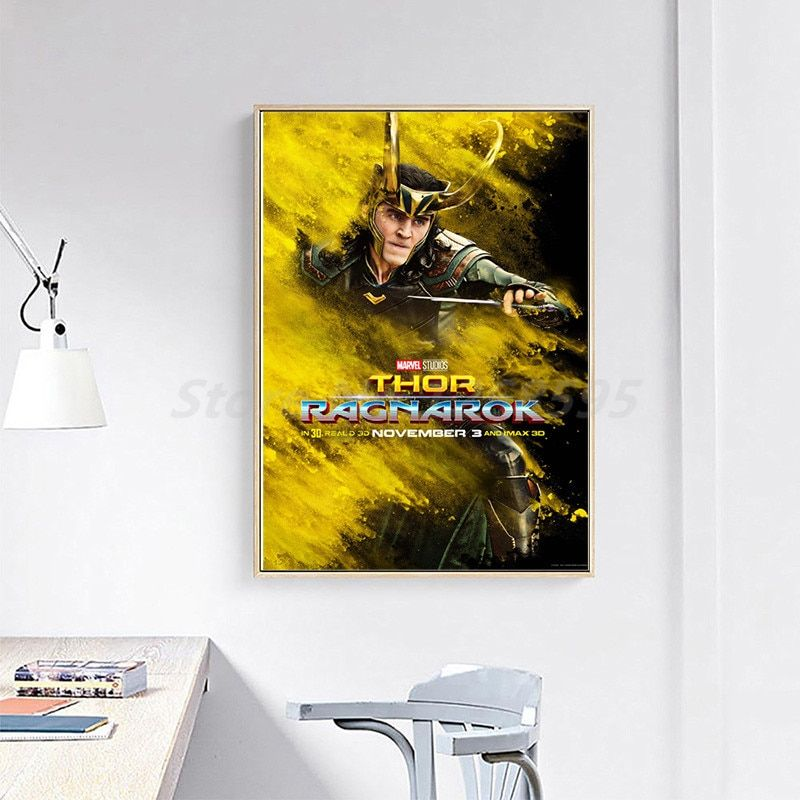 thor ragnarok movie loki posters canvas painting print living room home decor modern wall art oil painting poster artwork giclee in painting calligraphy