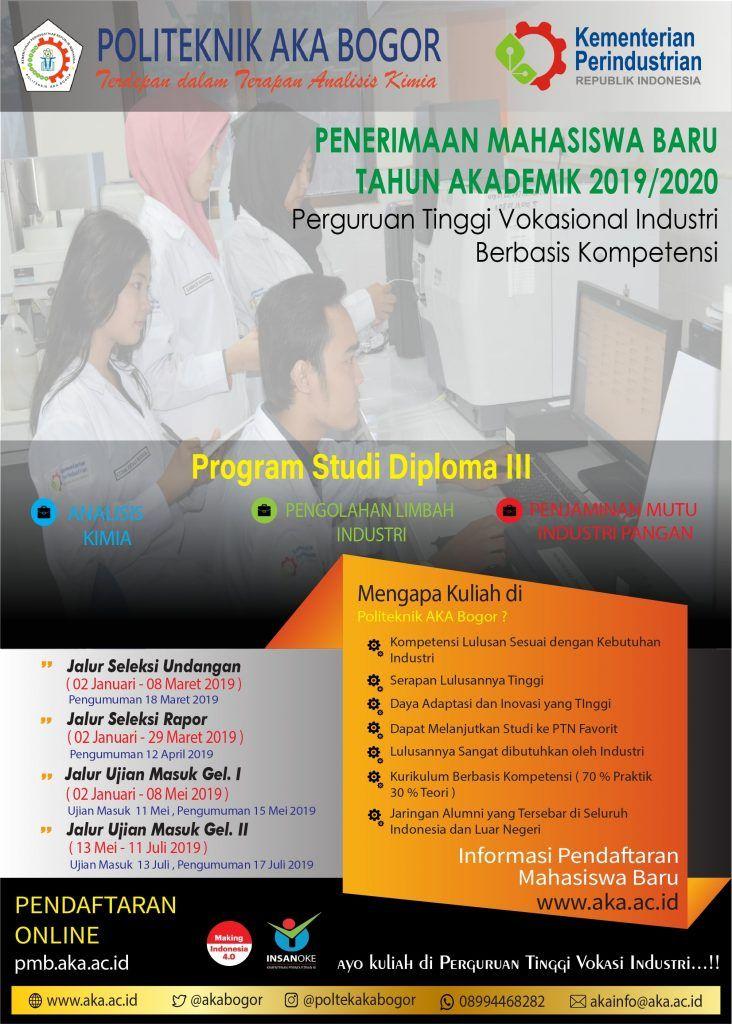 Tujuan Poster Bermanfaat Pendaftaran Mahasiswa Baru Politeknik Aka Bogor 2019 2020