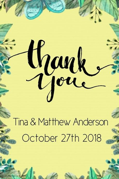 thank you poster template postermywall
