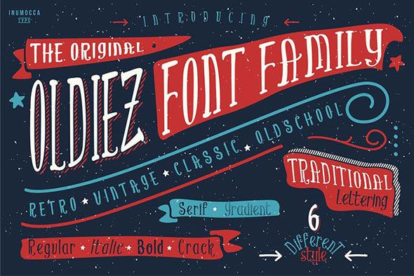 oldiez family font