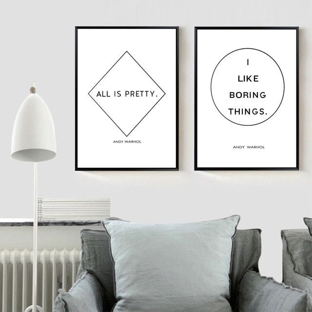 andy warhol quote canvas painting minimalist poster modern wall art decor art typography print home scandinavian wall decor