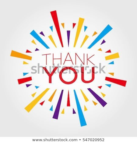 thank you poster banner greeting template stock vector royalty free