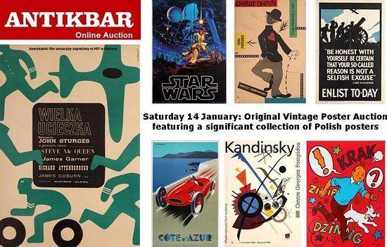 antikbar original vintage poster auction 14 january 2017