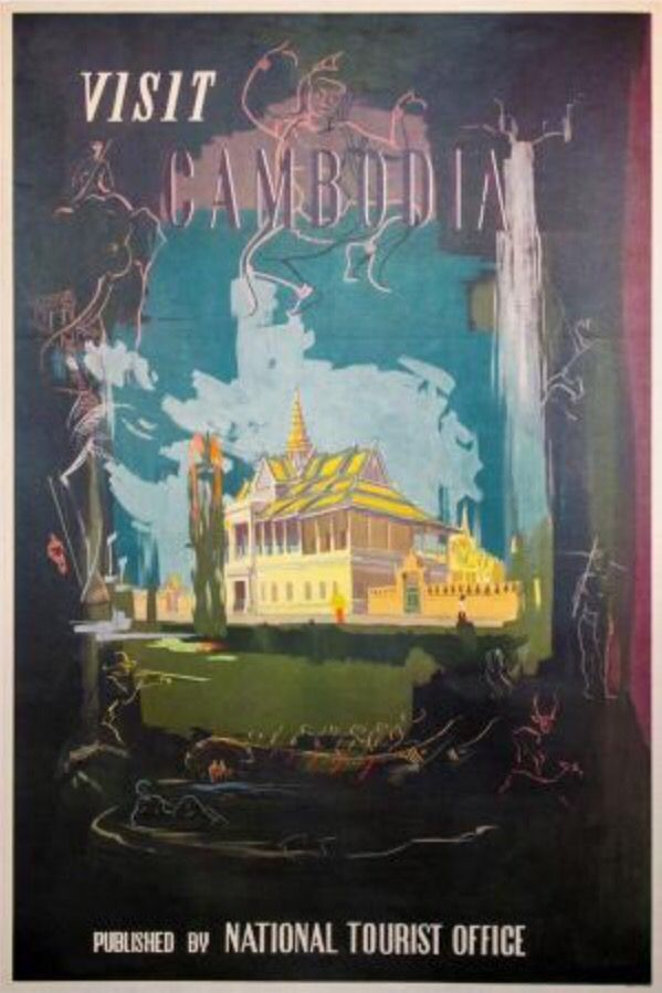 cambodia vintage poster