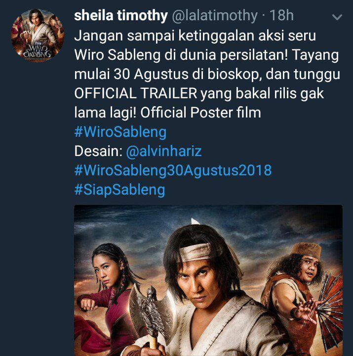 tim sableng sudah berusaha semampu semaksimal mungkin melakukam yang terbaik untuk para pecinta film indonesia pic twitter com edv8fvwafq